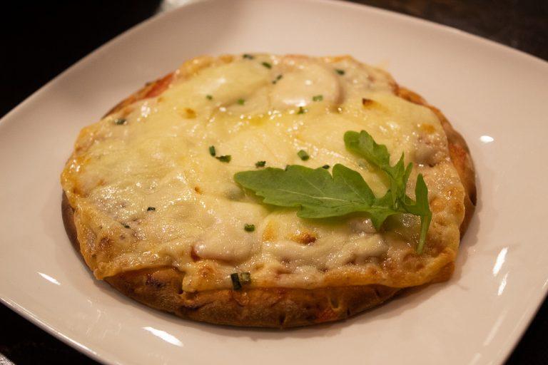 Mini pizza salami